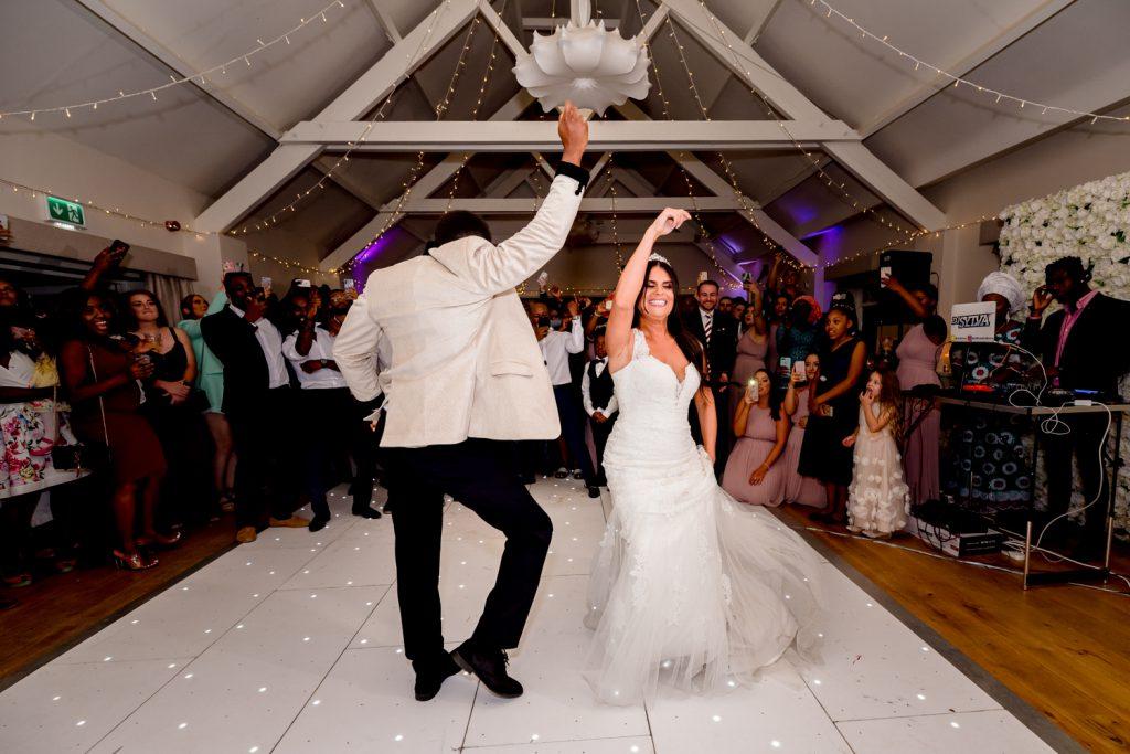 fun-bride-groom-first-dance-essex-wedding