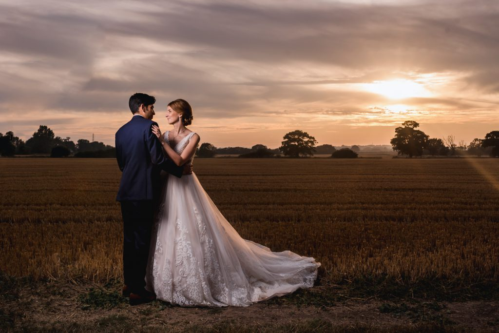 romantic-sunset-essex-wedding-apton-hall